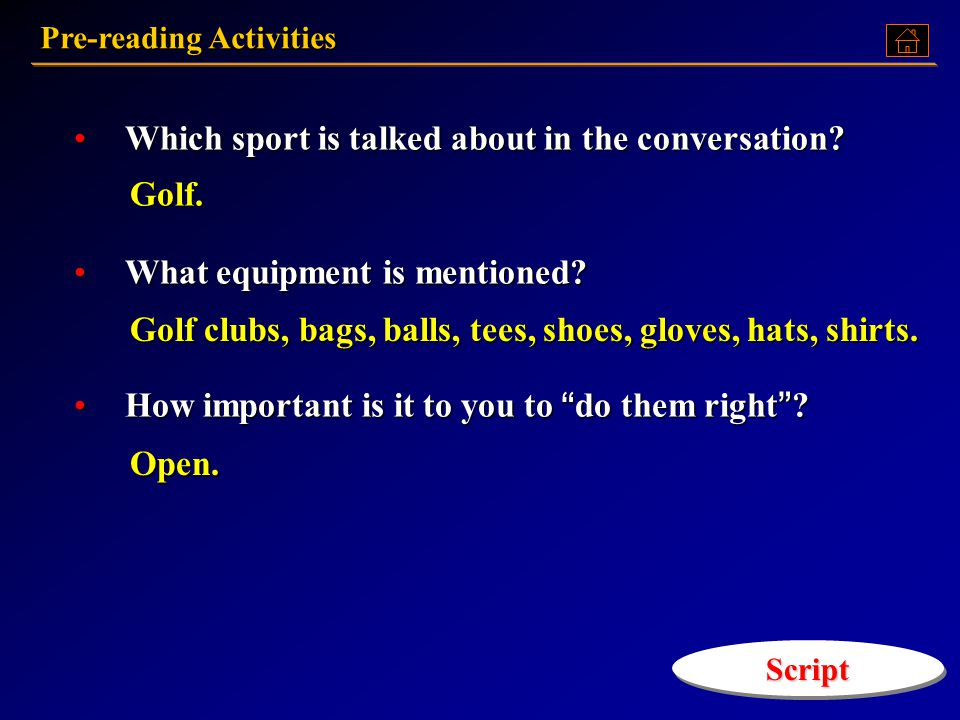 Which sport is talked about in the conversation