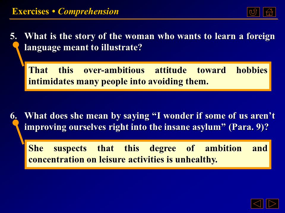 Exercises • Comprehension