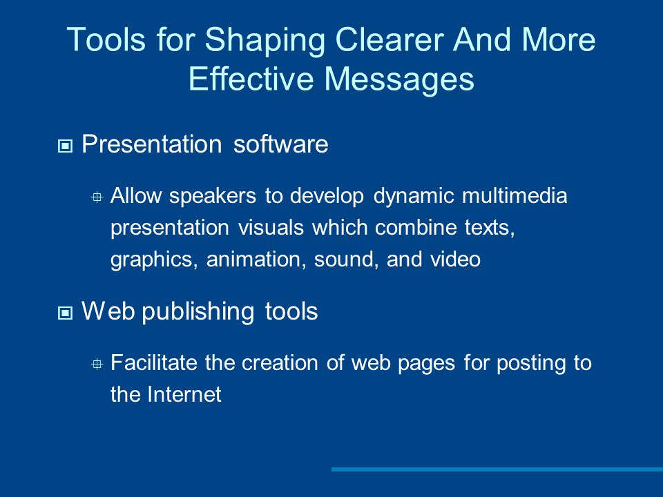 Tools for Shaping Clearer And More Effective Messages