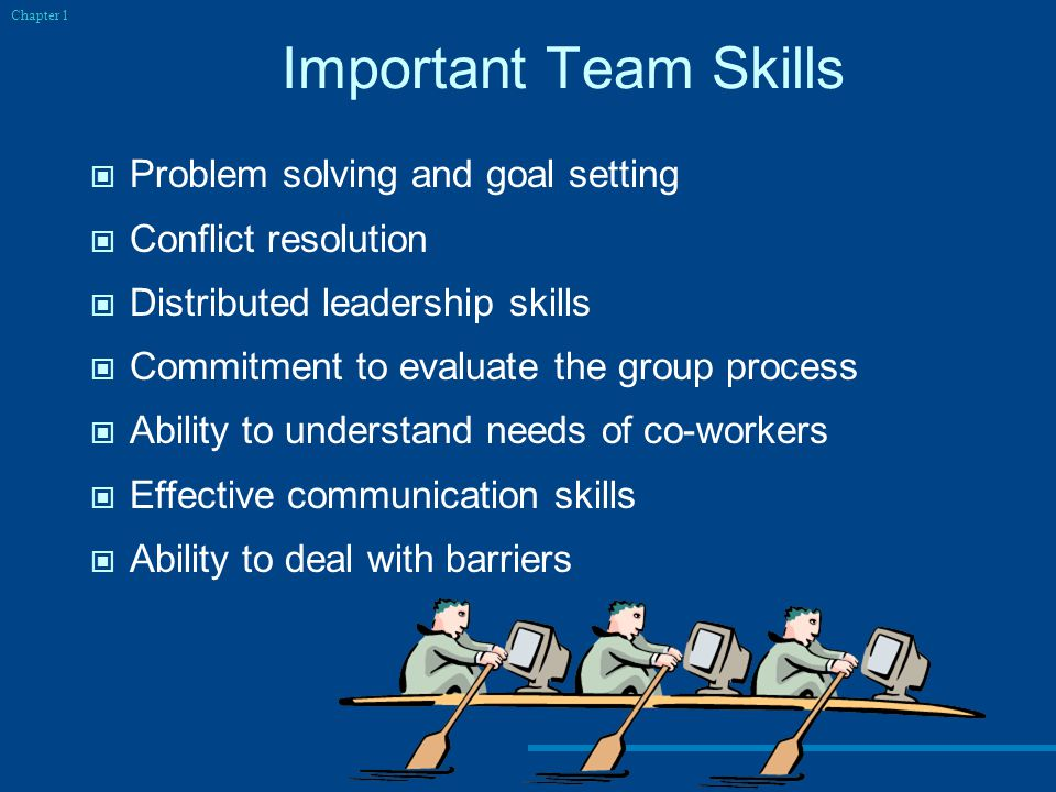 Important Team Skills Problem solving and goal setting