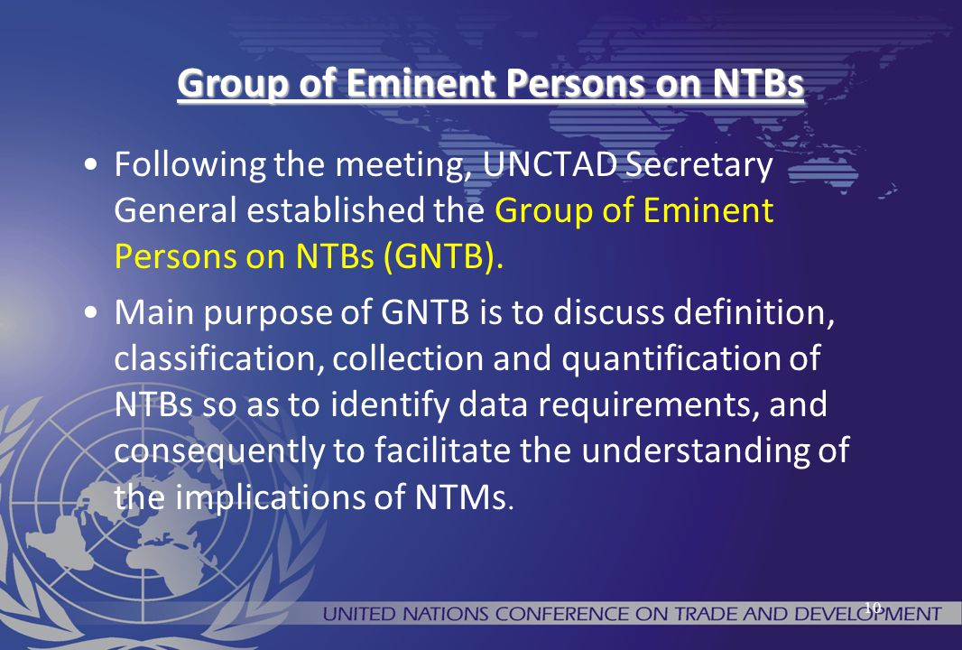 Group of Eminent Persons on NTBs