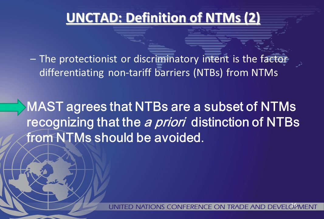 UNCTAD: Definition of NTMs (2)