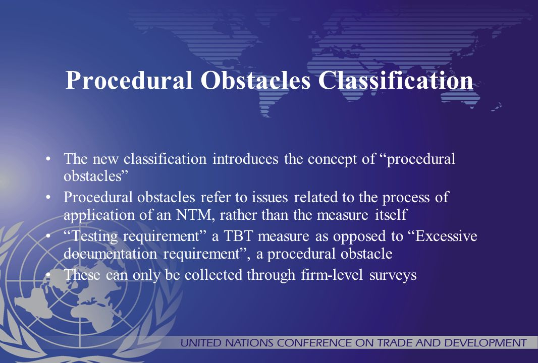 Procedural Obstacles Classification