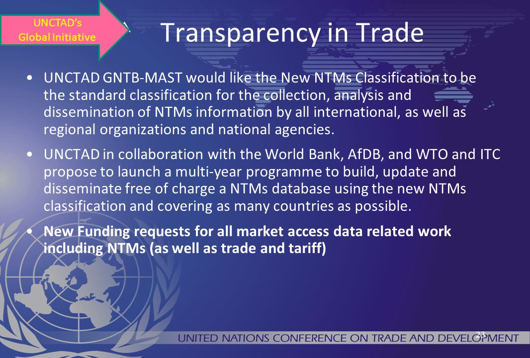 ^ Transparency in Trade