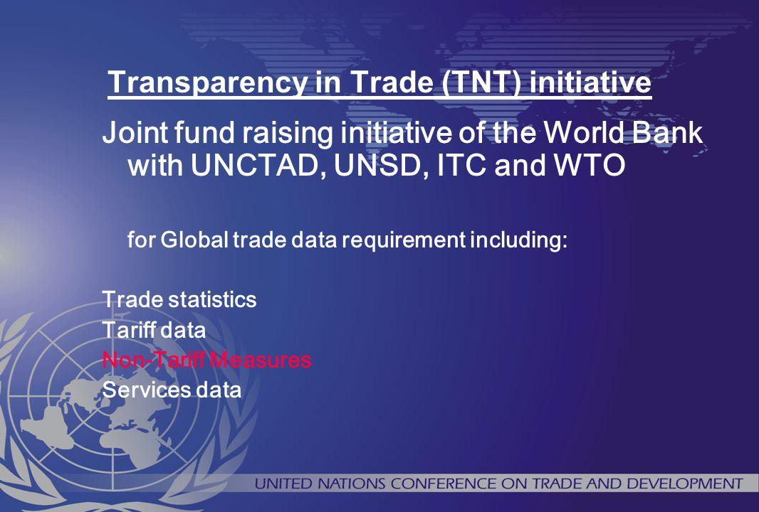Transparency in Trade (TNT) initiative