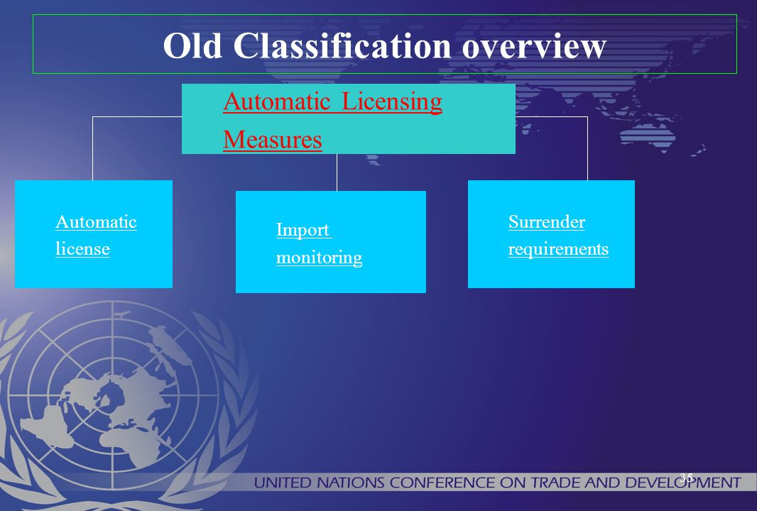 Old Classification overview