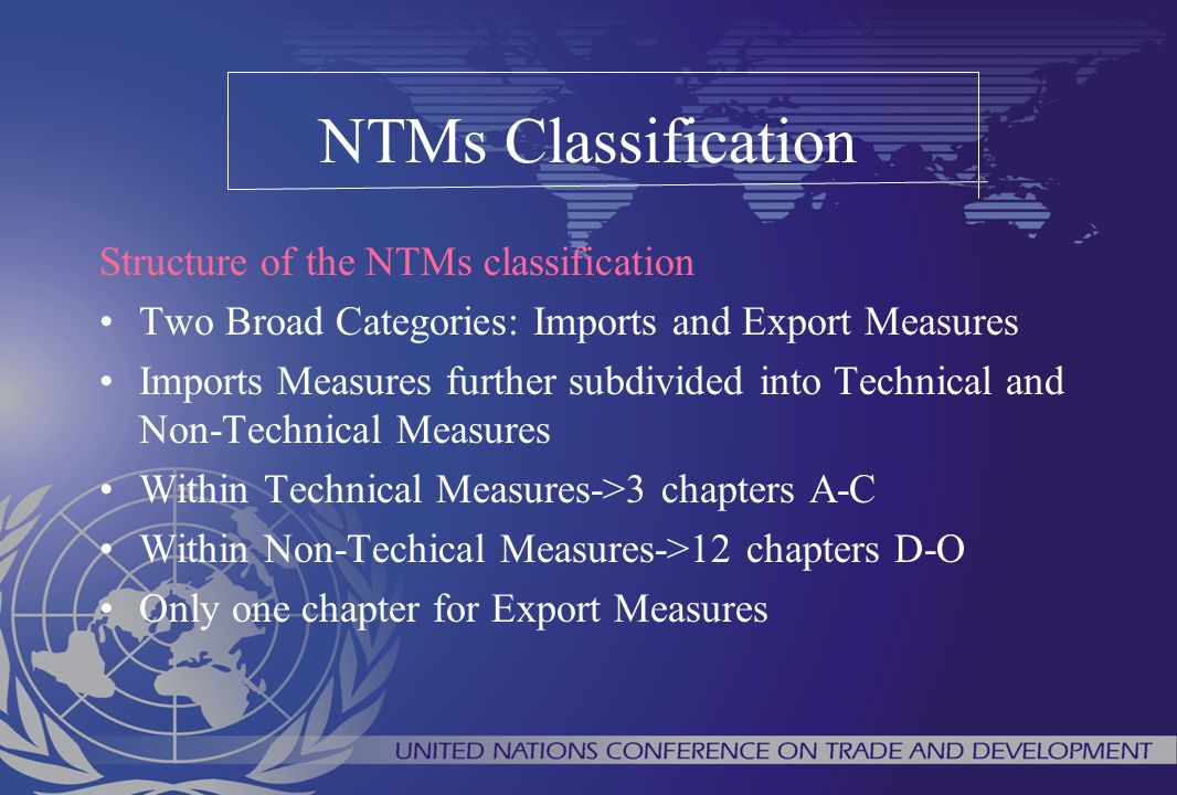 NTMs Classification Structure of the NTMs classification