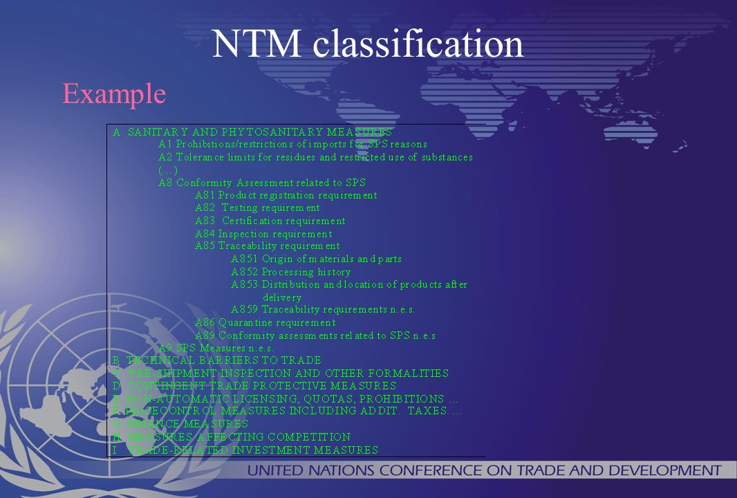 NTM classification Example