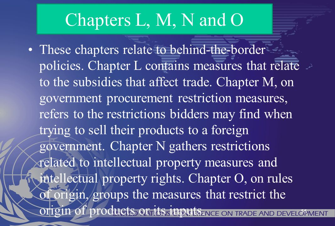 Chapters L, M, N and O