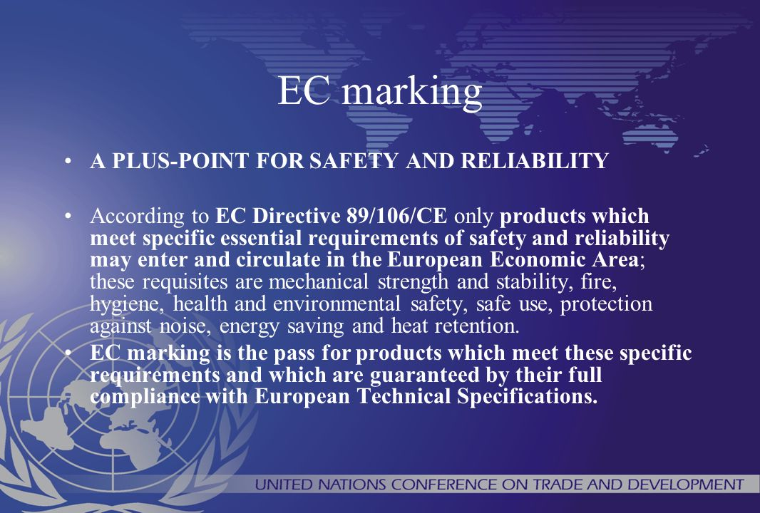 EC marking A PLUS-POINT FOR SAFETY AND RELIABILITY