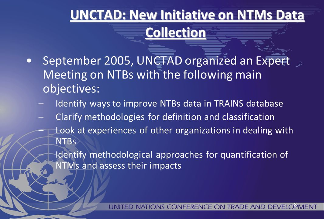 UNCTAD: New Initiative on NTMs Data Collection