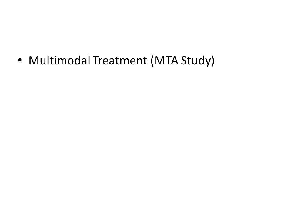 Multimodal Treatment (MTA Study)