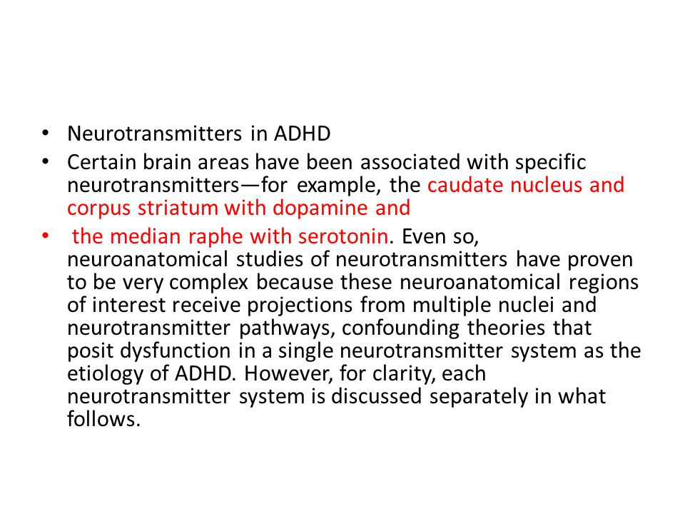 Neurotransmitters in ADHD