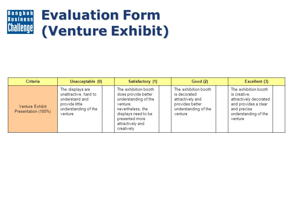 Venture Exhibit Presentation (100%)