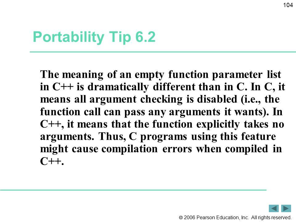 Portability Tip 6.2