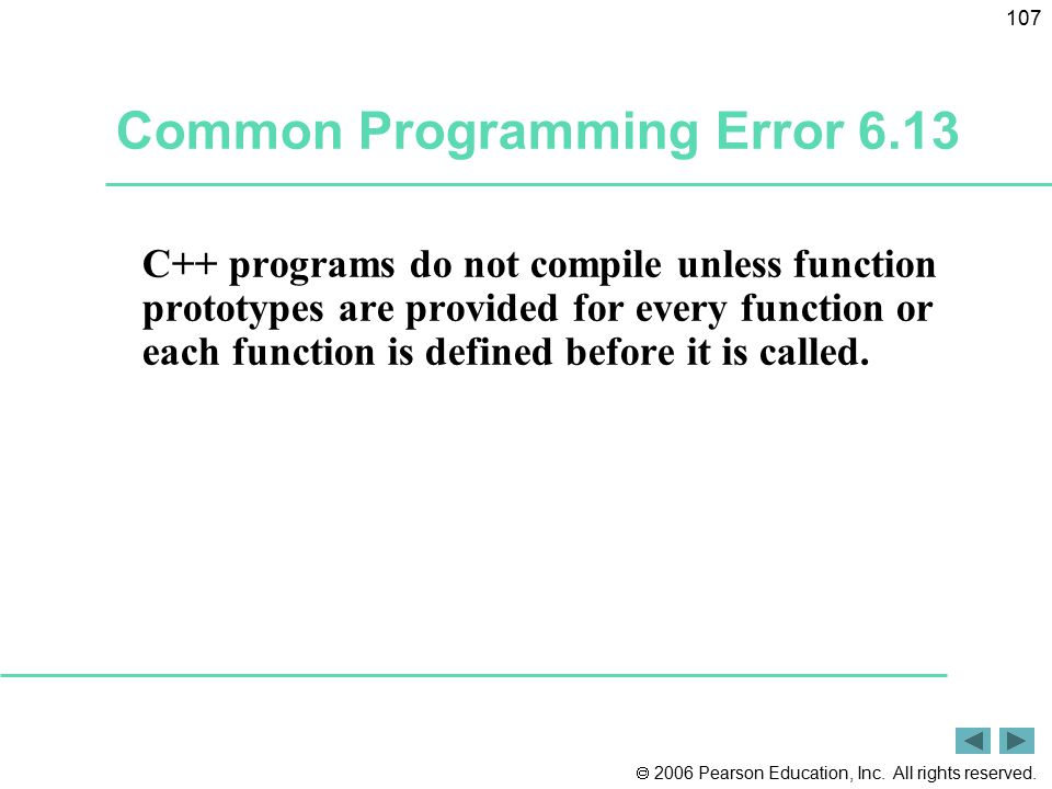 Common Programming Error 6.13