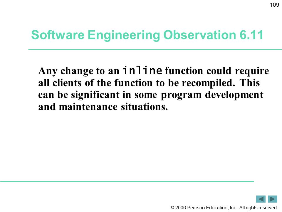 Software Engineering Observation 6.11