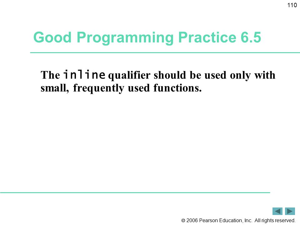 Good Programming Practice 6.5