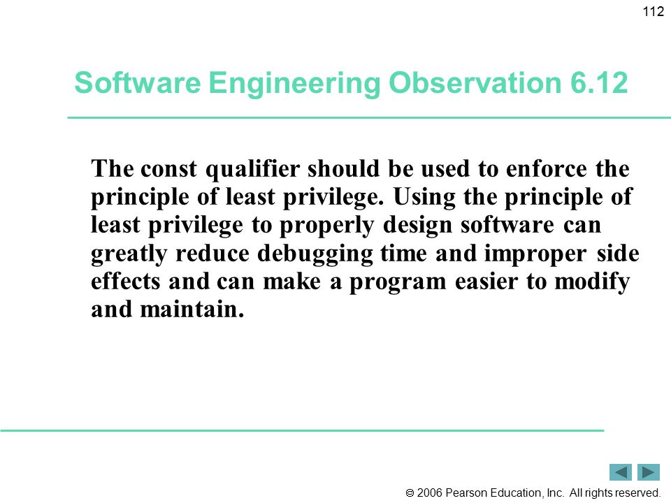 Software Engineering Observation 6.12