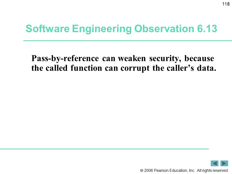Software Engineering Observation 6.13