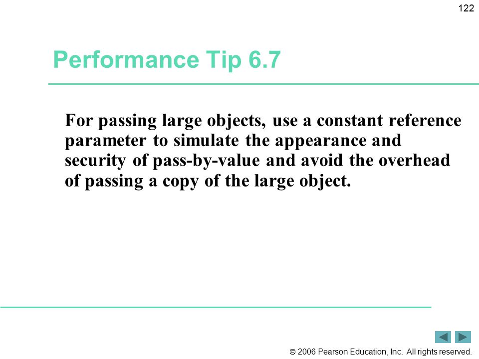Performance Tip 6.7