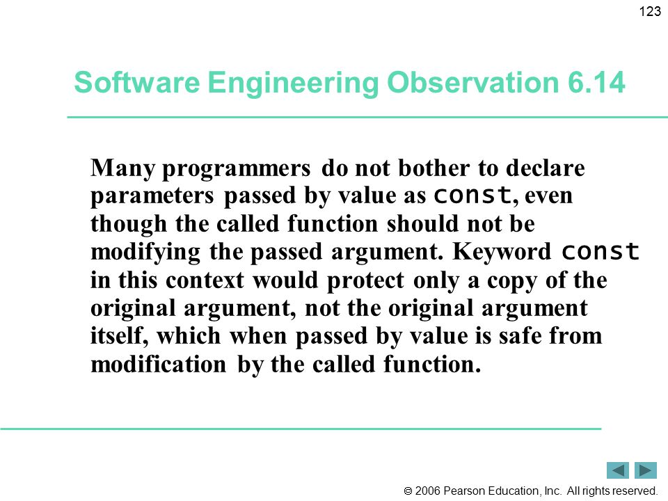 Software Engineering Observation 6.14