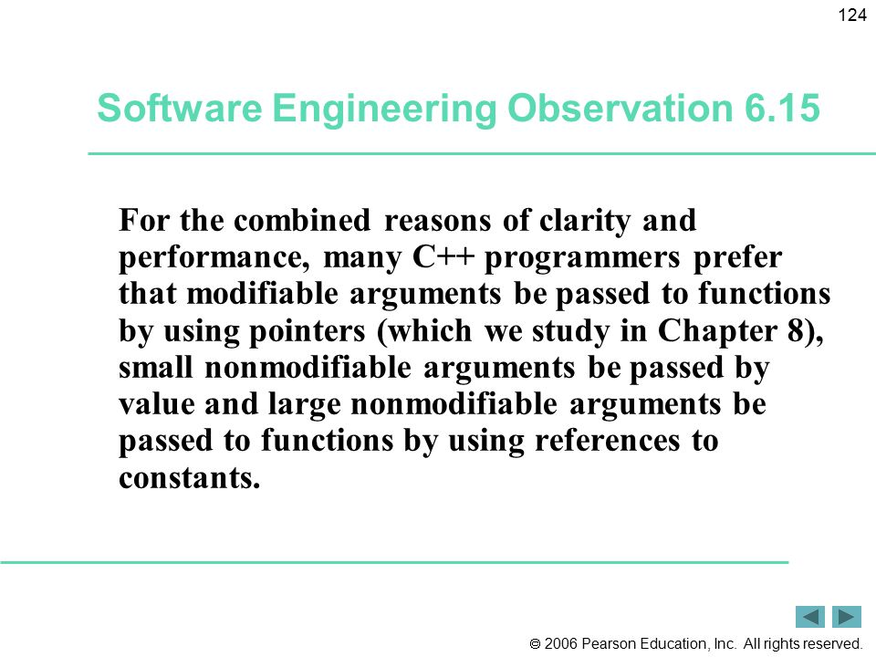 Software Engineering Observation 6.15