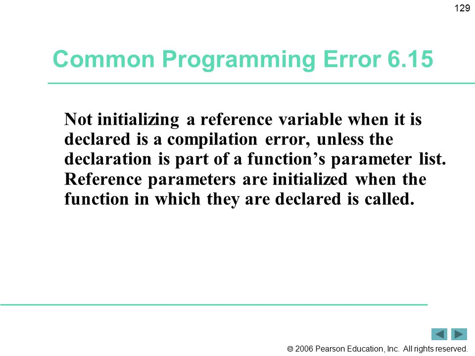 Common Programming Error 6.15