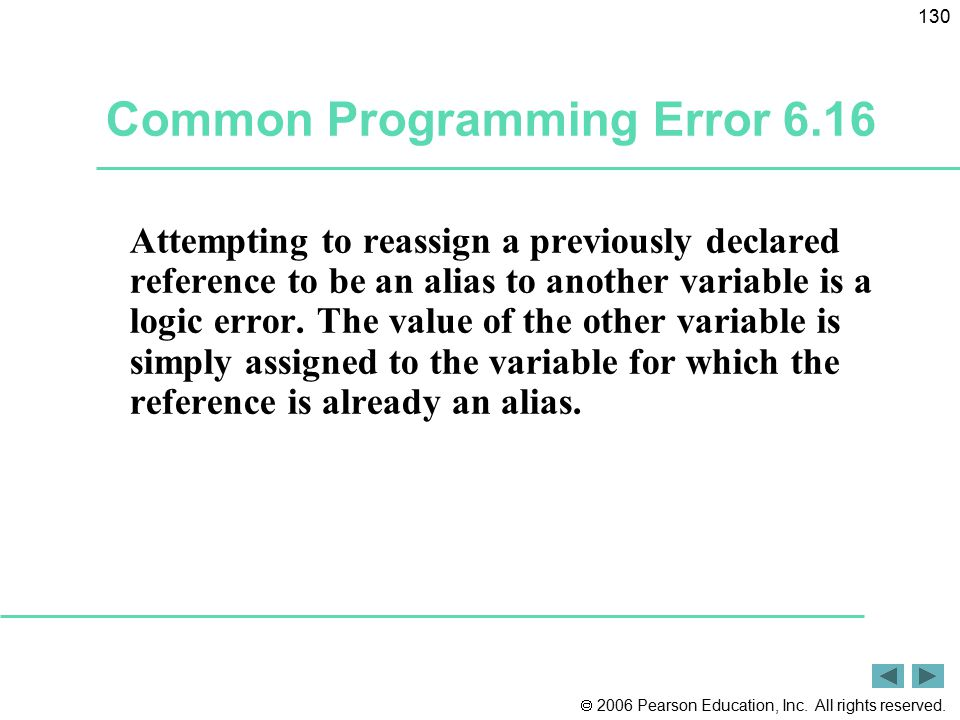 Common Programming Error 6.16