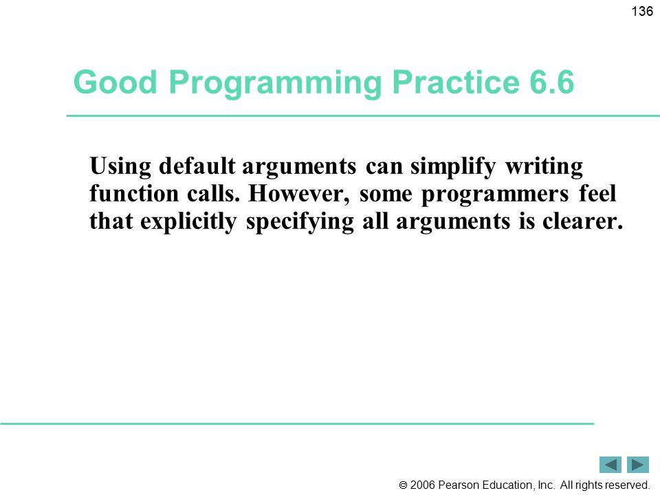 Good Programming Practice 6.6