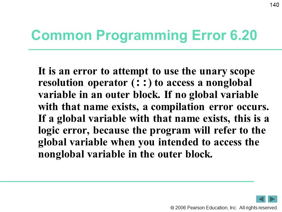 Common Programming Error 6.20