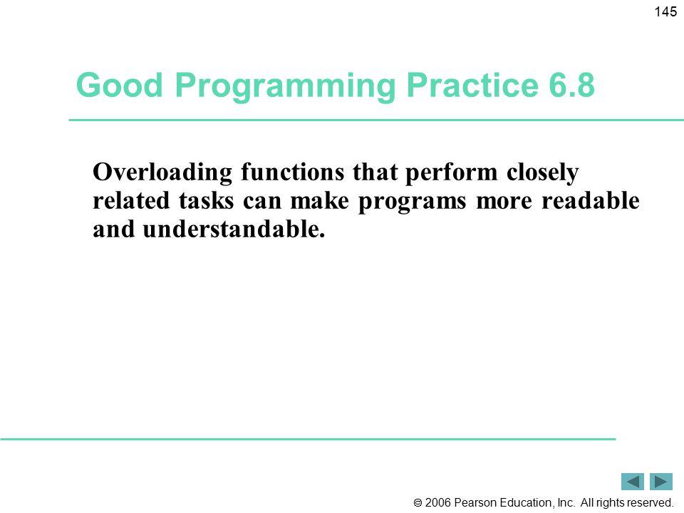 Good Programming Practice 6.8