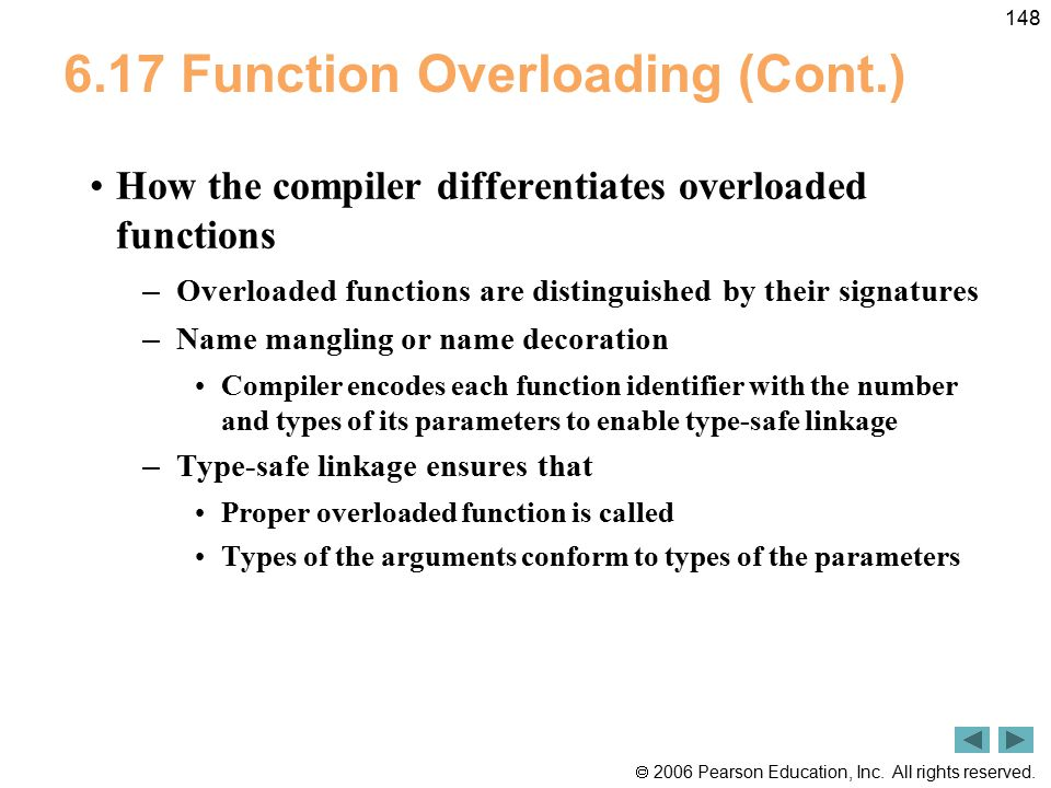 6.17 Function Overloading (Cont.)