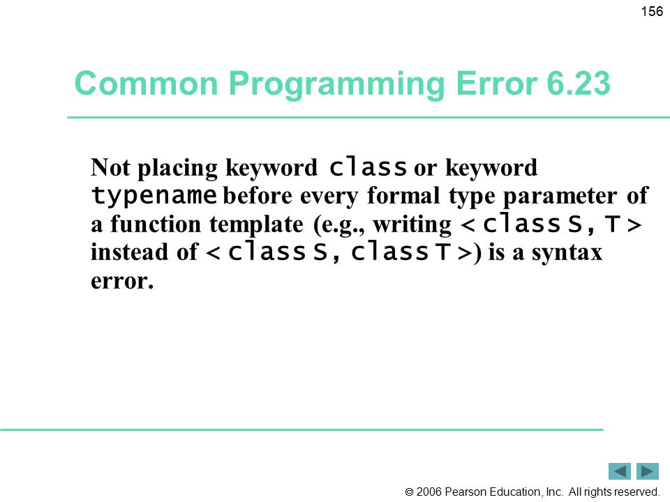 Common Programming Error 6.23