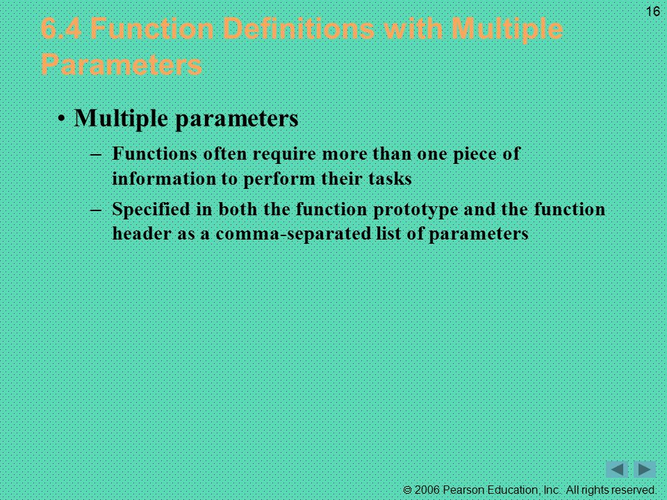 6.4 Function Definitions with Multiple Parameters