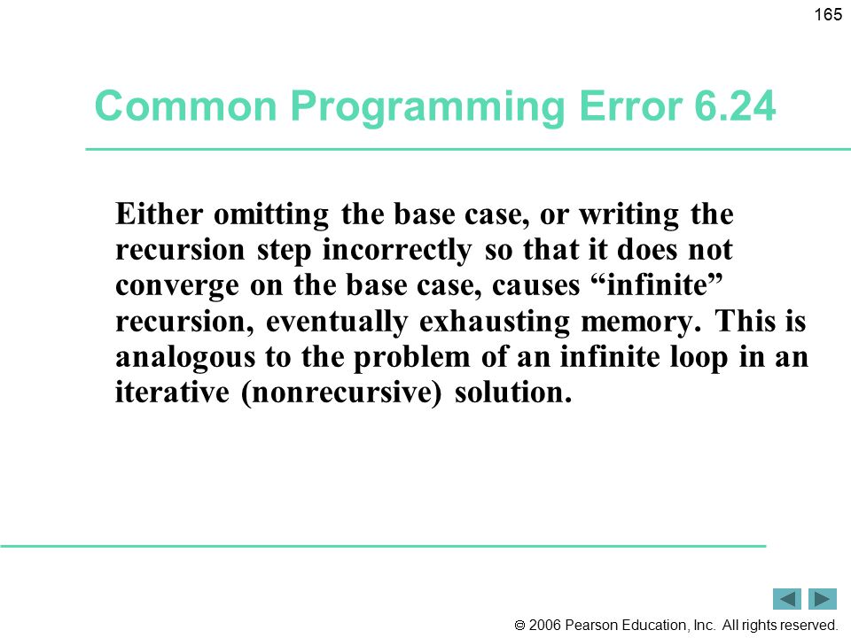 Common Programming Error 6.24