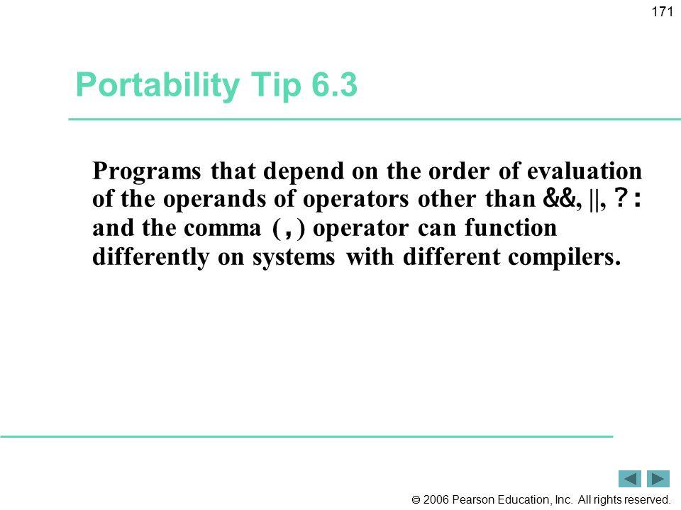 Portability Tip 6.3