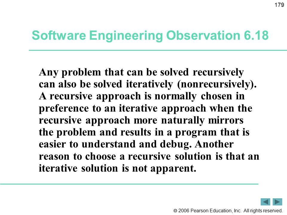 Software Engineering Observation 6.18