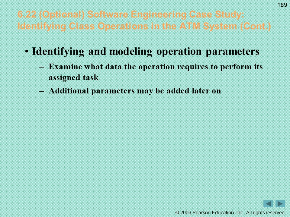 Identifying and modeling operation parameters