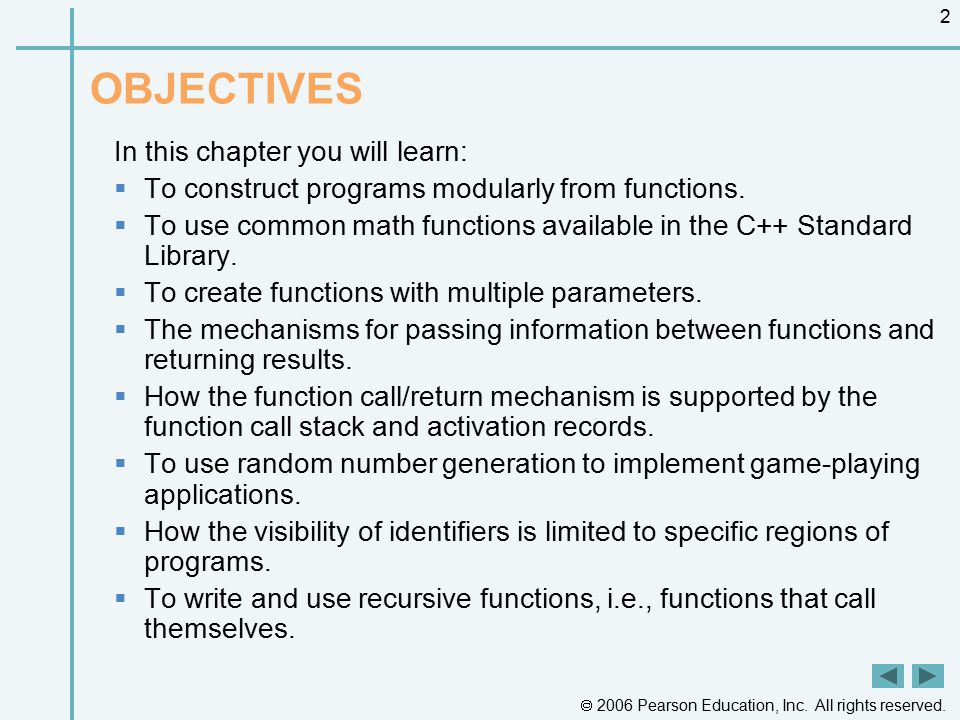 OBJECTIVES In this chapter you will learn: