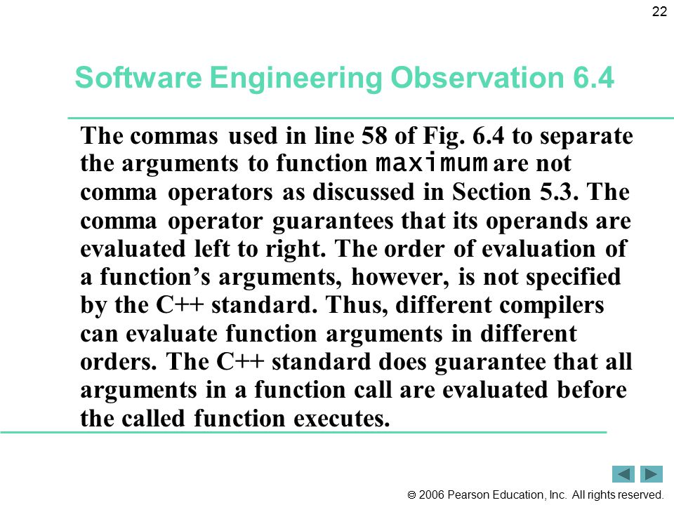 Software Engineering Observation 6.4