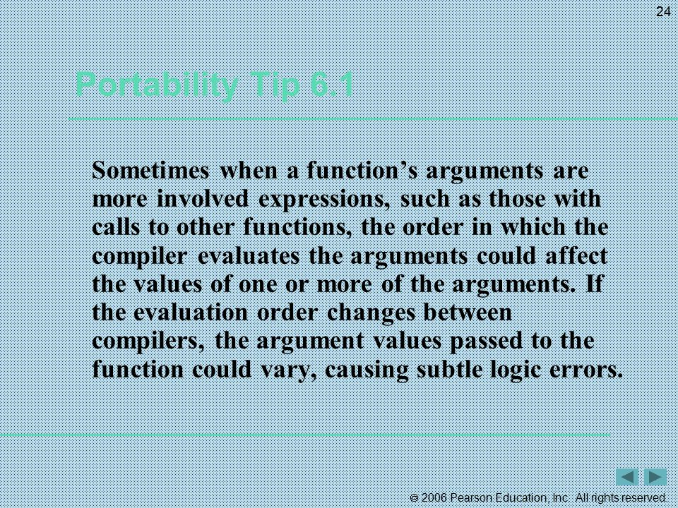 Portability Tip 6.1