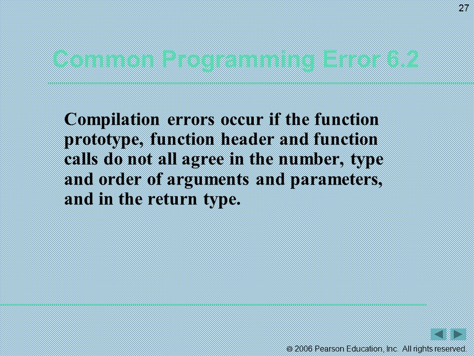 Common Programming Error 6.2