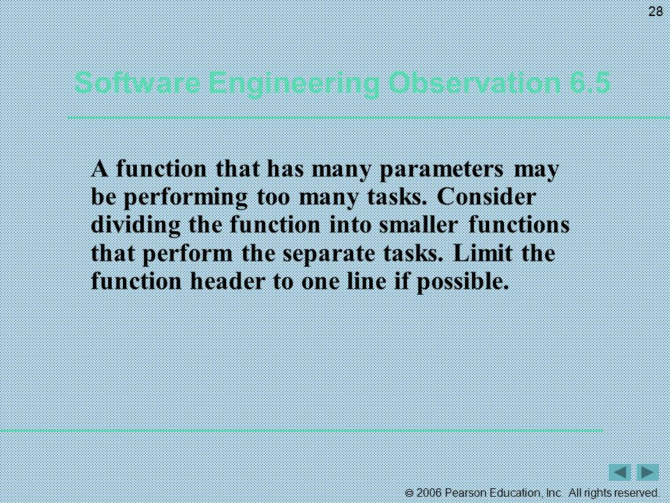 Software Engineering Observation 6.5