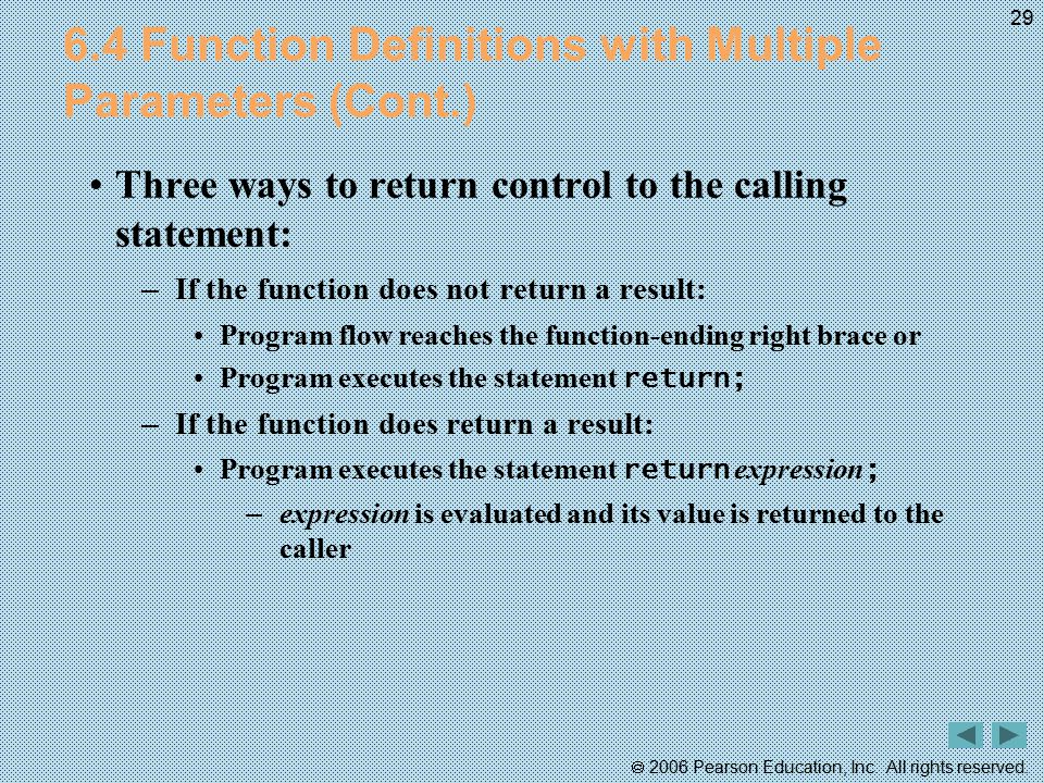 6.4 Function Definitions with Multiple Parameters (Cont.)