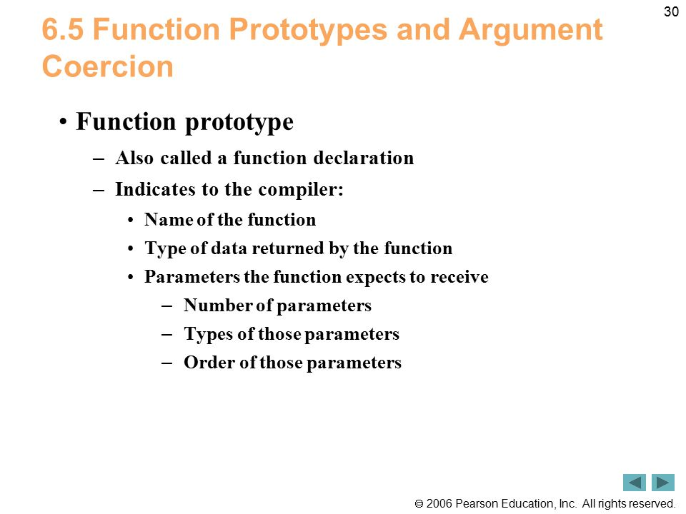 6.5 Function Prototypes and Argument Coercion