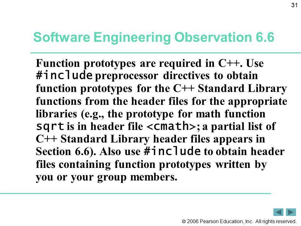 Software Engineering Observation 6.6