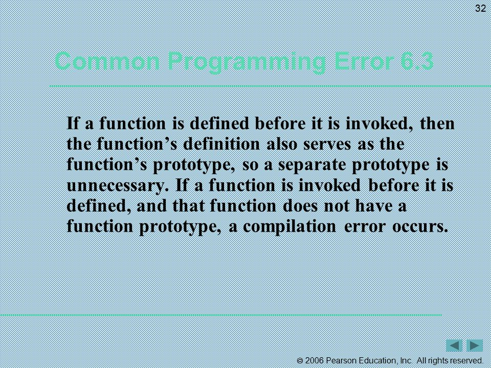 Common Programming Error 6.3