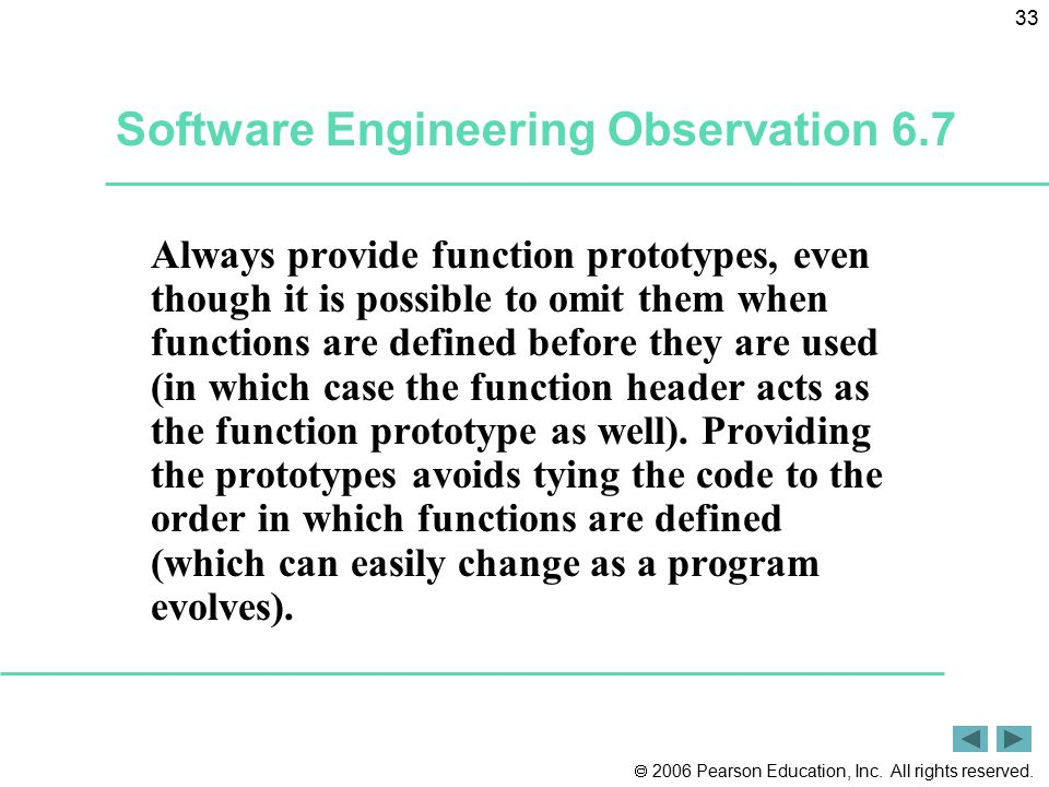 Software Engineering Observation 6.7