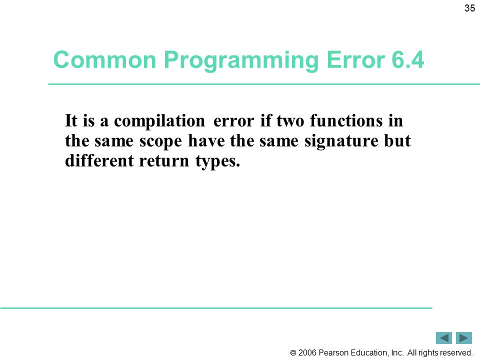 Common Programming Error 6.4